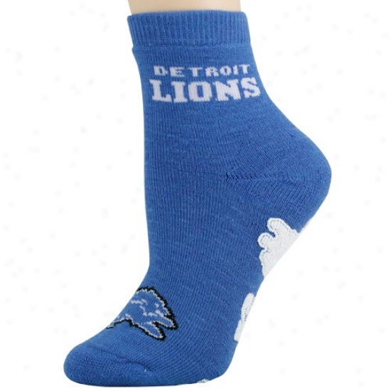 Detroit Lions Ladies Light Blue Slipper Socks