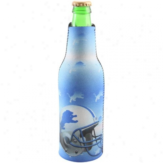 Detroit Lions Light Blue Neoprene Bottle Coozie