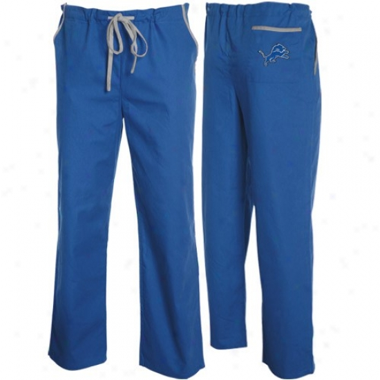 Detroit Lions Light Blue Scrub Pants