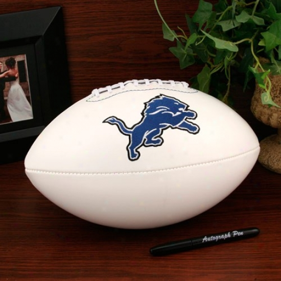 Detroit Lions Official Full Size Autograph Football