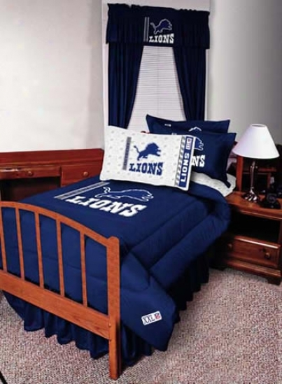 Detroit Lions Queen Size Bed Skirt