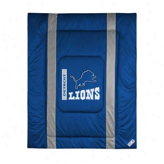 Deroit Lions Queen/full Size Sideline Comforter