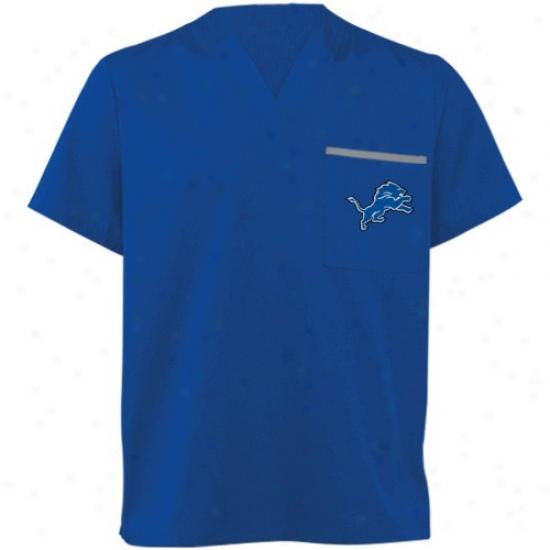 Detroit Lions Shirt : Detroit Lions Light Blue Scrub Top