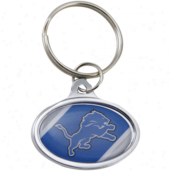 Detroit Lions Small Oval Team Logo Keychain