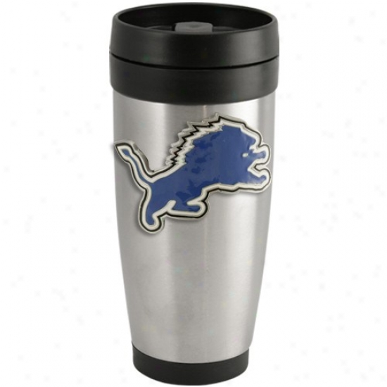 Detroit Lions Stainless Steel Team Logo Thermo Travel Tumbler