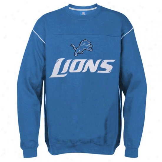 Detroit Lions Sweat Shirts : Detroit Lions Light Blue Classic Crew Sweat Shirts