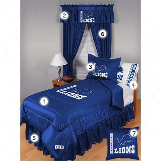 Detroit Lions Twin Size Locker Room Bedroom Set