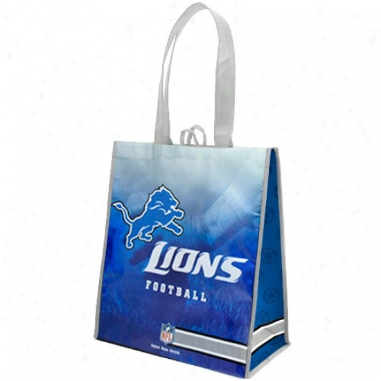 Detroit Lions White-light Blue Fade Reusable Tote Bag