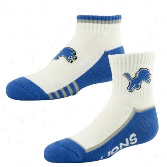 Detroit Lions Juvenility White-blue Two-pack Socks
