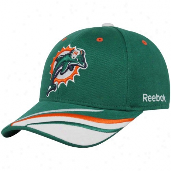 Dolphins Cap : Reebok Dolphins Aqua Collage Adjustable Acme