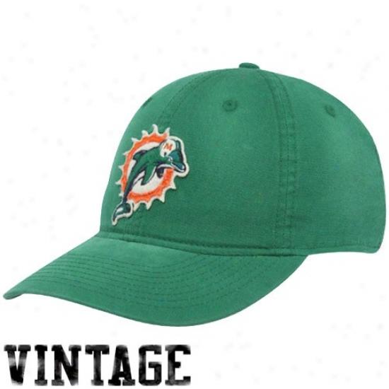 Dolphins Caps : Reebok Dolphins Aqua Distressed Logo Slouch Flex Fit Caps