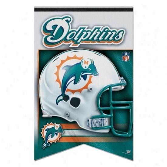 Dolphins Flag : Dolhpins 17'' X 26'' Premium Quality Felt Flag