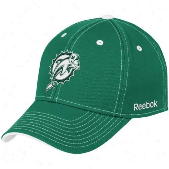 Dolphins Gear: Reebok Dolphins Aqua Tonal Team Logo Flex Fit Hat