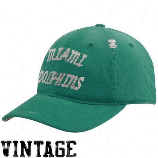 Dolphins Hat : Reebok Dolphins Aqua Vintage Flex Slouch Hat