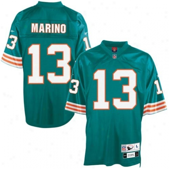 Dolphins Jerseys : Reebok Dolphins #13 Dan Marino Aqua Tackle Twill Throwback Football Jerseys