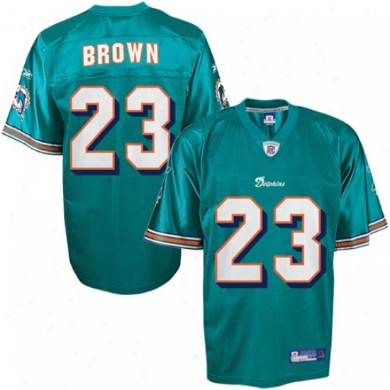 Dolphons Jerseys : Reebok Nfl Equipment Dolphinw #23 Ronnie Brown Aqua Toddler Replica Football Jerseys