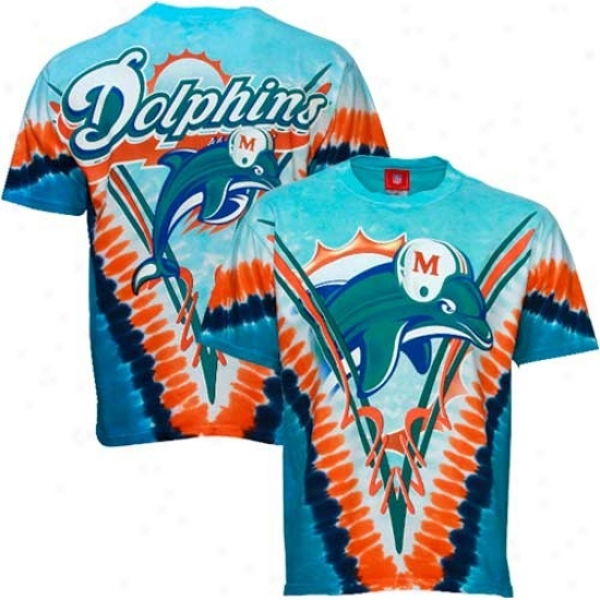 Doplhins T Shirt : Dolphins Aqua V-dye Logo T Shirt