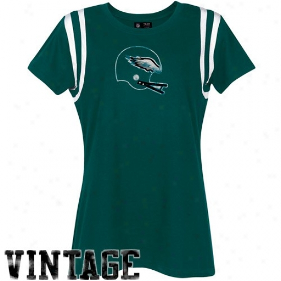 Eagles Attire: Eagles Ladies Green Vintage Helnet T-shirt