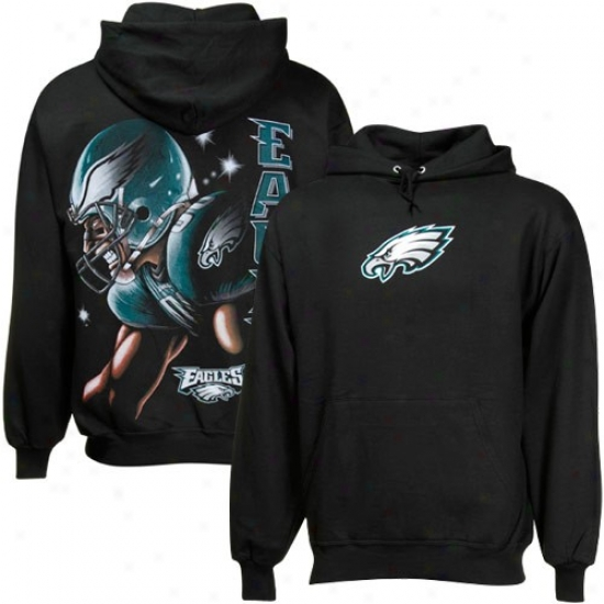 Egles Fleece : Eagles Black Game Face Fleece