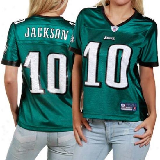 Eagles Jersey : Reebok Desean Jackson Eagles Women's Replica Jersey - Green