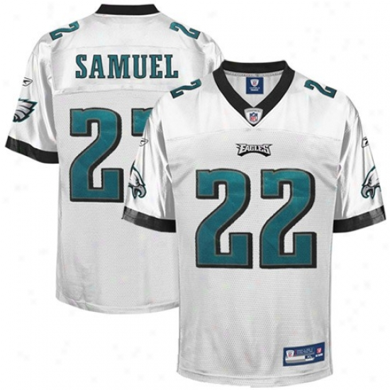 Eagles Jerseys : Reebok Nfl Equipment Eagles #22 Asante Samuel White Replica Football Jerseys