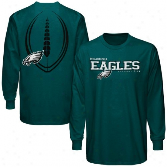 Eagles Shirt : Reebok Eagles Green Ballistic Long Slseve Shirt