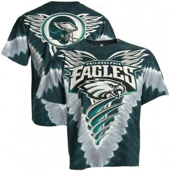 Eagles Shirts : Eagles Green V-dye Logo Annual rate  Shirts