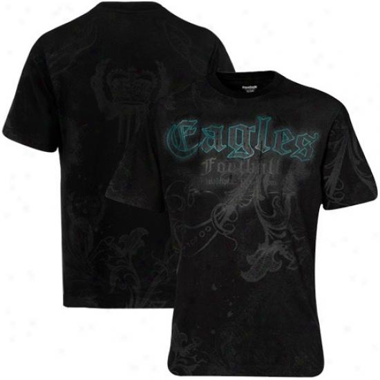 Eagles T-shirt : Reebok Eagles Black All Over T-shirt