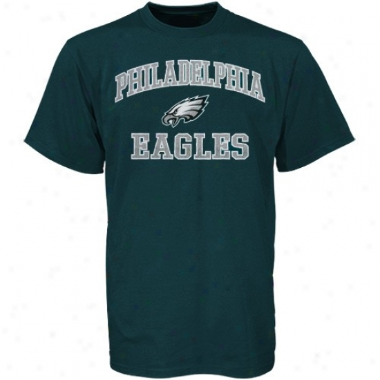 Eagles Tshirts : Eagles Green Heart And Soul Tshirts