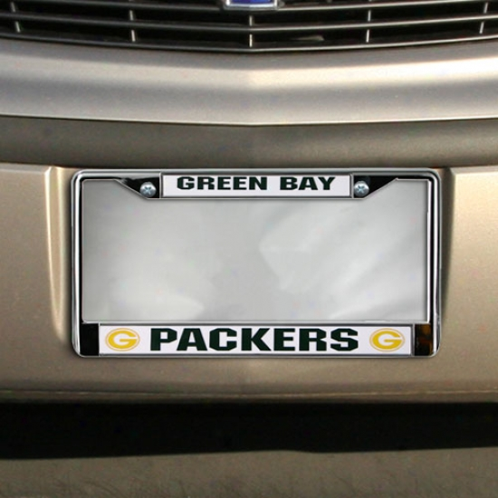 Express Green Bay Packers Chrome License Plate Frame