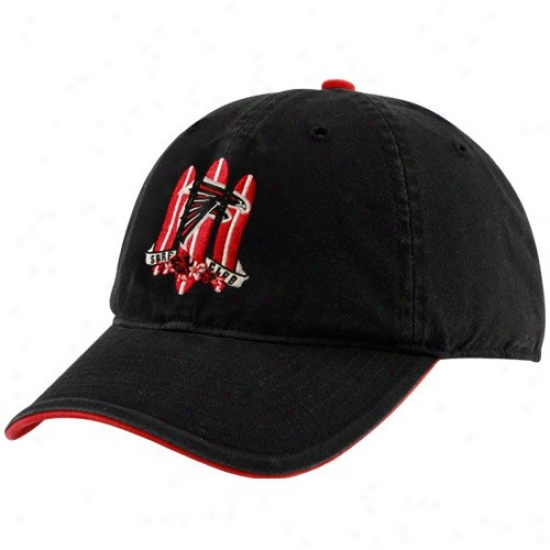 Falcons Gear: Reebok Falcons Black Surf Club Adjustable Slouch Hat