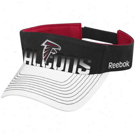 Falcons Gear: Reebok Falcons Black-white Players Visor