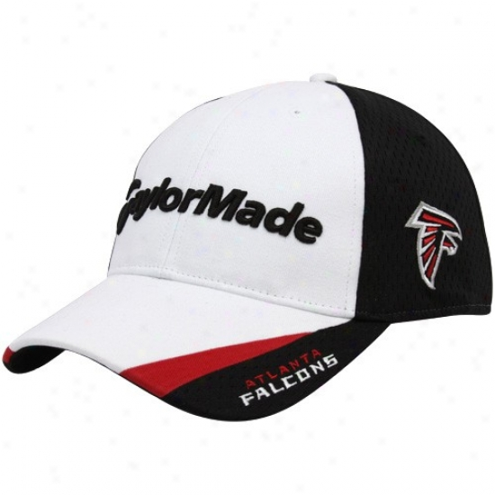Falcons Gear: Taylormade Falcons White-black 2010 Nfl Golf Adjustable Hat