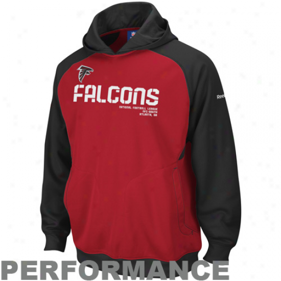 Falcons Hoodies : Reebok Falcons Red Sideline Performance Pullover Hoodies