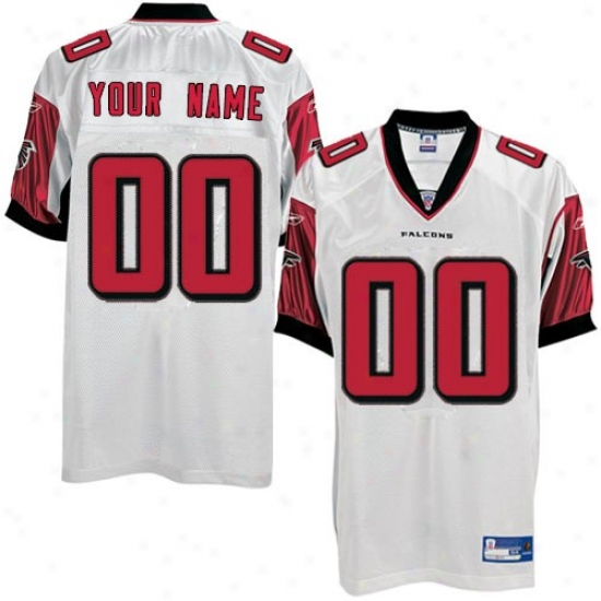 Falcons Jersey : Reebok Nfl Equipment Falcons White Authentic Customized Jersey
