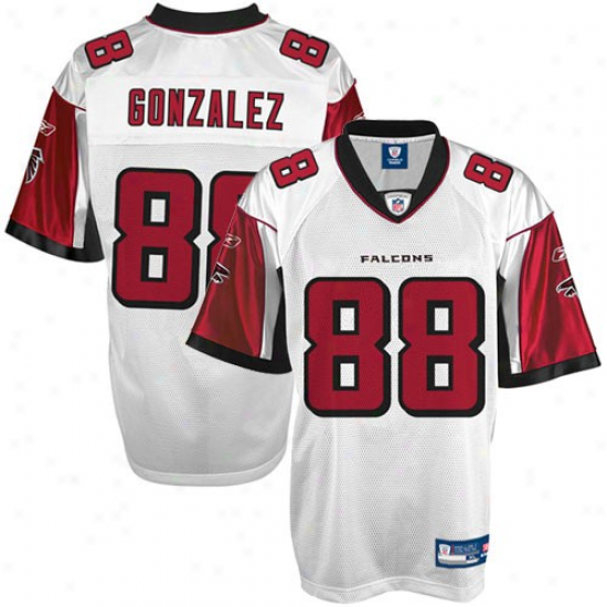 Falcons Jersey : Reebok Tony Gonzalez Falcons Youth Replica Jersey - White
