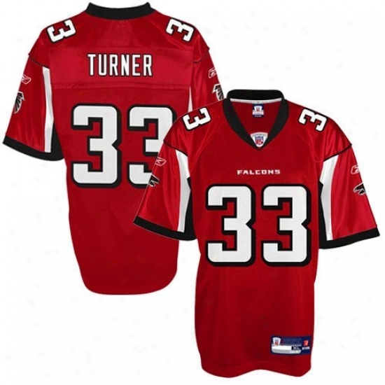 Falcons Jerseys : Reebok Nfl Accoutrement Falcons #33 Michael Turner Youth Red Replica Football Jerseys