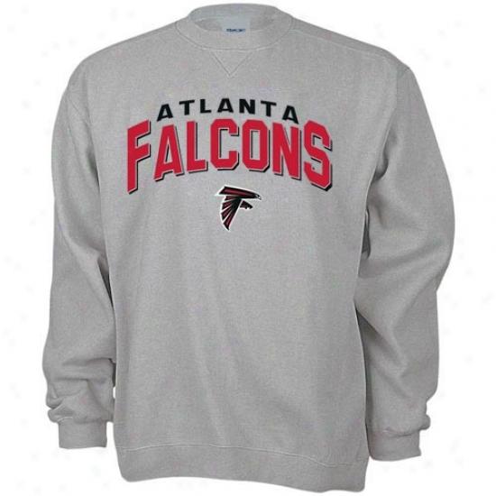 Falcons Stuff: Reebok Falcons Ash Goal Line Crew Sweatshirt