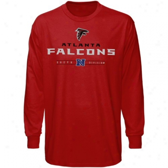 Falcons T Shirt : Falcons Red Critical Victory Iv Long Sleeve T Shirt