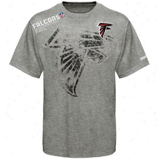 Falcons T-shirt:  Reebok Falcons Youth Ash Sidelin eStealth T-shirt