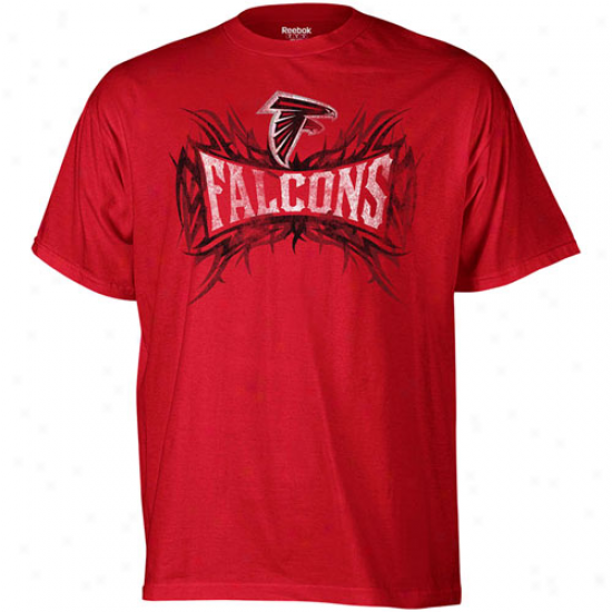 Falcons Tees : Reebok Falcons Red Outlast Brand Tees