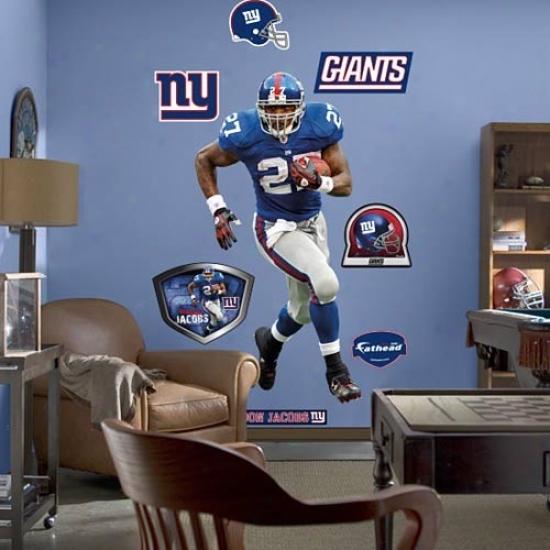 Fathead New York Giants #27 Bradnon Jacobbs Player Wall Cling