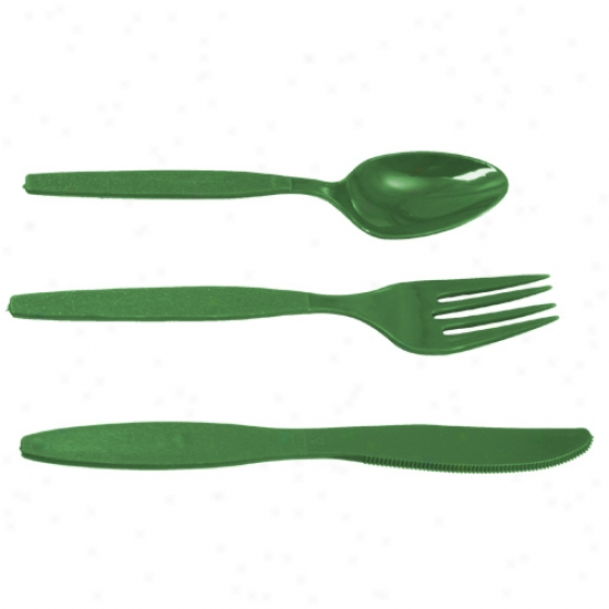 New 24-piece Team Color Deluxe Plastic Cutlery Flow
