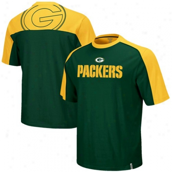 Green Bay Dress: Reehok Green Bay Boy Green-gold Draft Choose T-shirt
