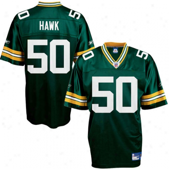 Green Bay Jersey : Reebok Nfl Equipment Green Bay #50 A.j. Hawk Green Replica Football Jersey