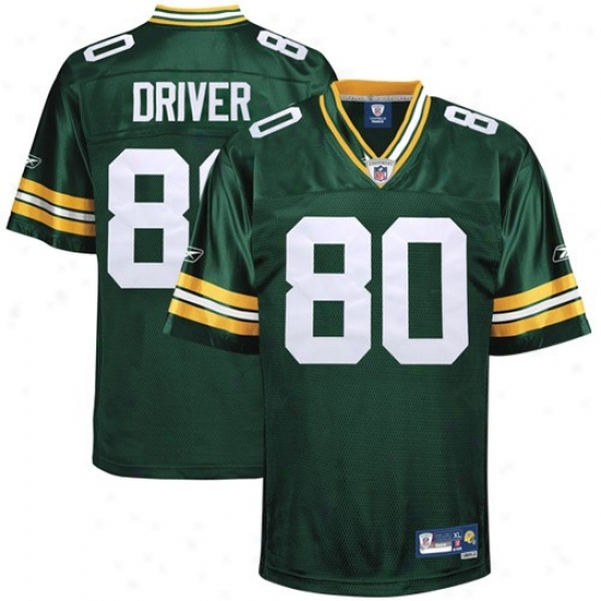 Green Bay Jersey : Reebok Nfl Equipment Green Bay #80 Donald Driver Green Premier Tackle Twill Football Jersey