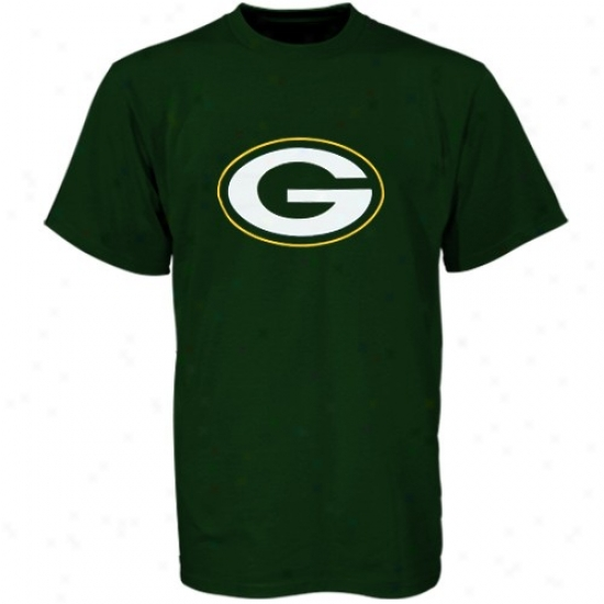 Green Bay Packer Attire: Reebok Green Bay Packer Unripe Youth Highest Logo T-shirt