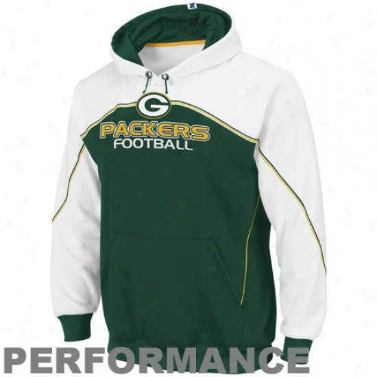 Unseasoned Bay Packer Hoody : Green Bay Packer Green-white Intjmidating Ii Performance Hoody