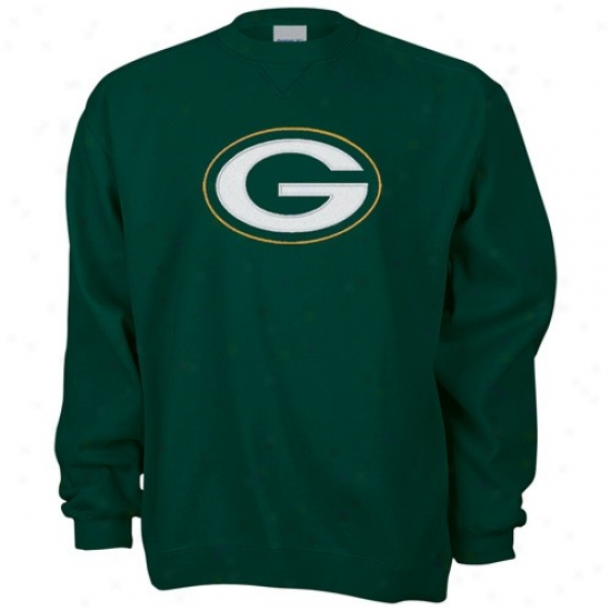 Green Bay Packer Hoody : Reebok Green Bay Packer Green Logo Premier Holdy