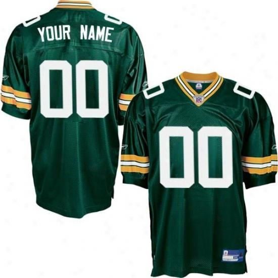 Green Bay Packer Jersey : Reebok Nfl Equipment Green Bay Packer Green Authentic Customized Jersey